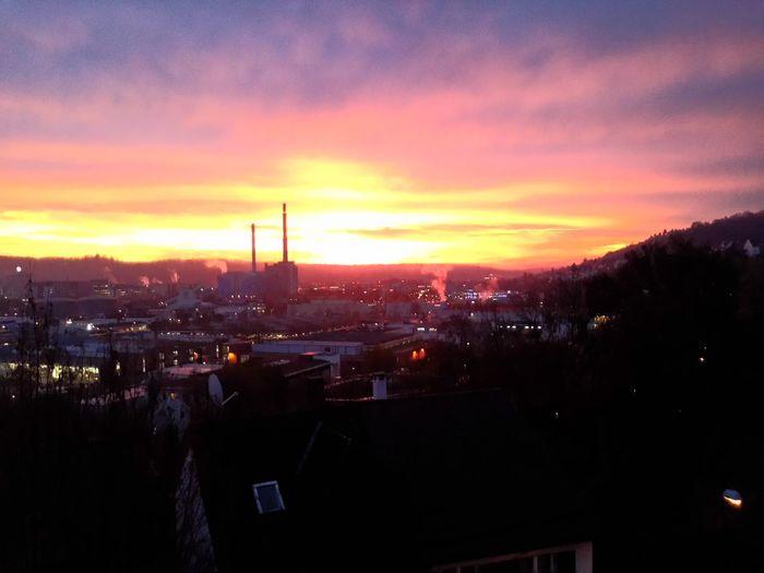 Der Himmel brennt, was für ein Morgen