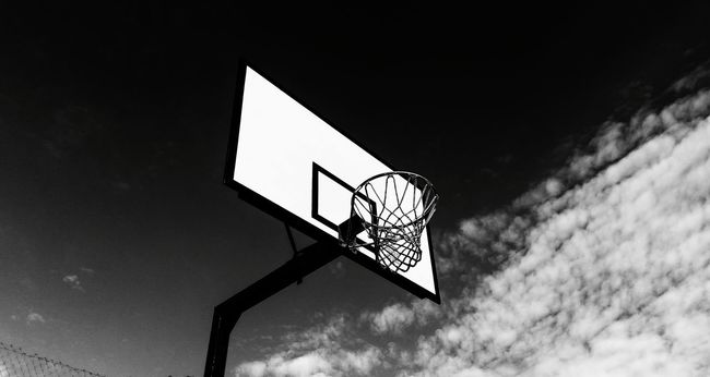 Adelaide, South Australia Basketball Hoops Black And White Photography Training Buckets Parklife Practice Time