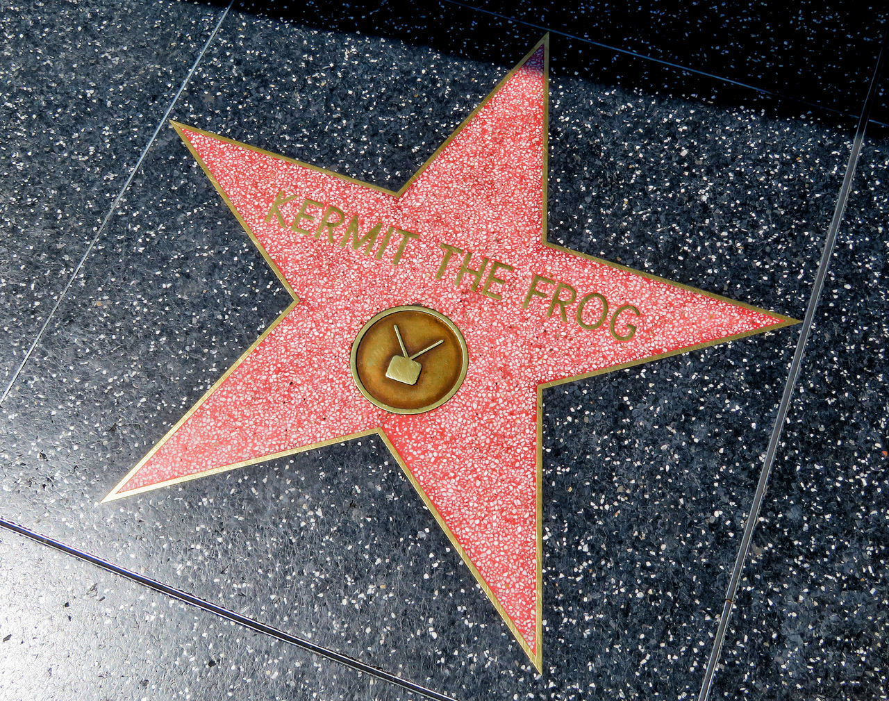 Walk of Fame - Hollywood America California Celebrities Hollywood Kermit The Frog Moviestar Muppets No People Star Terrazzo Walk Of Fame