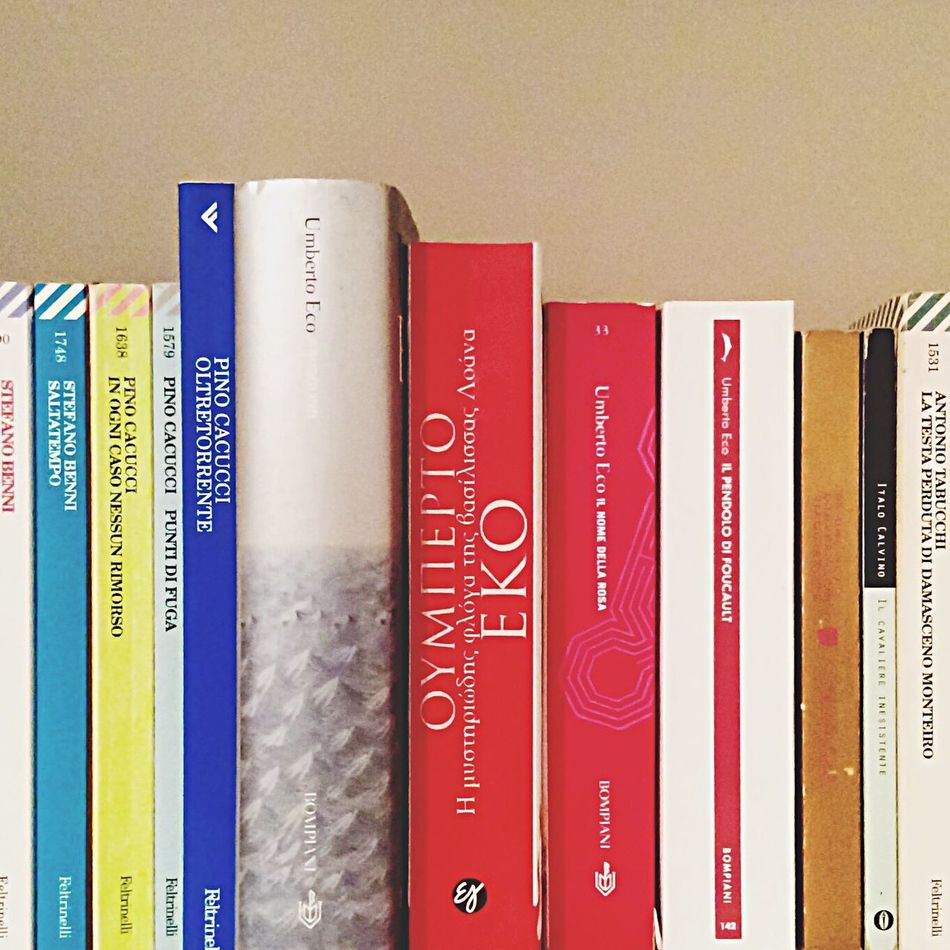 It's been more than twenty years now since I first read my very first Umberto Eco novel, The Name of the Rose. Many books preceded and even more followed since then, but it still is -along with Foucault's Pendulum- one of my favorite books of all time... I can't but feel kind of sad today, that such a brilliant mind has been lost forever... Umbertoeco Books Bookshelf Bookcase At Home