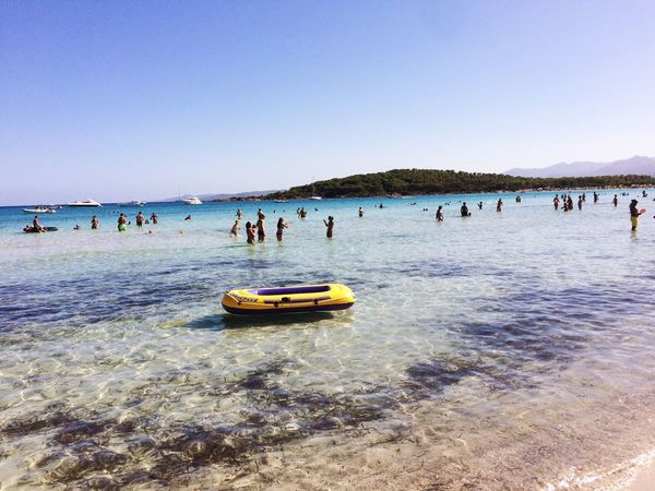 Sea Beach Water Blue Clear Sky Nature Large Group Of People Nautical Vessel Outdoors Transportation Beauty In Nature Real People Horizon Over Water Scenics Leisure Activity Sky Day Sand Adventure Vacations Clear Sky Sardegna Sardinia Sardegna Italy  Sardarni San Teodoro