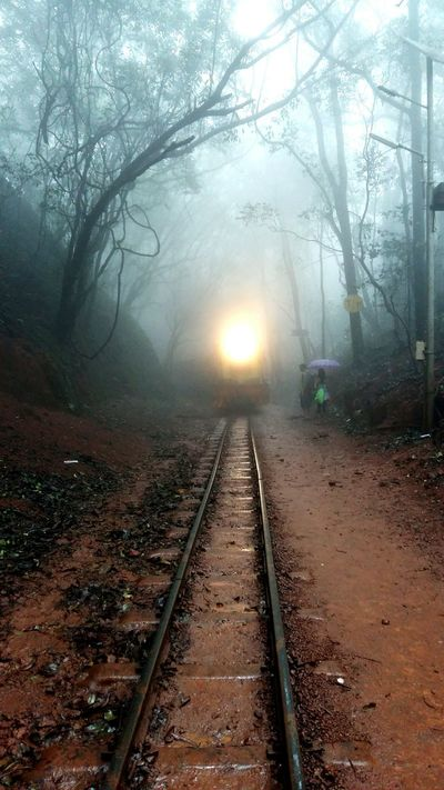It's Cold Outside Toytrain Frontshot ChillingWeather Matheran , India