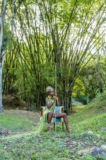 Soul Searching Soul GO HARD African Beauty Natural Beauty Caribbean Blackisbeautiful Taking Photos Trinidad And Tobago Canon 7D Lookintomyeyes Sounds Of Blackness Bamboos Outdoors One Person Adventure Girl Power Bamb