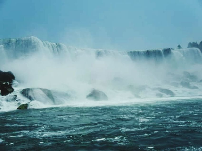 Water Nature Beauty In Nature Scenics Outdoors Waterfall Motion Wave Mist Travel Destinations Tranquil Scene Niagara Falls Niagara Falls NY Power In Nature