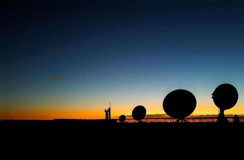 Satellite Silhouettes Silhouette Sky Beauty Views Orangeandblue Satellitedish Background Photography Tranquillity Freelance