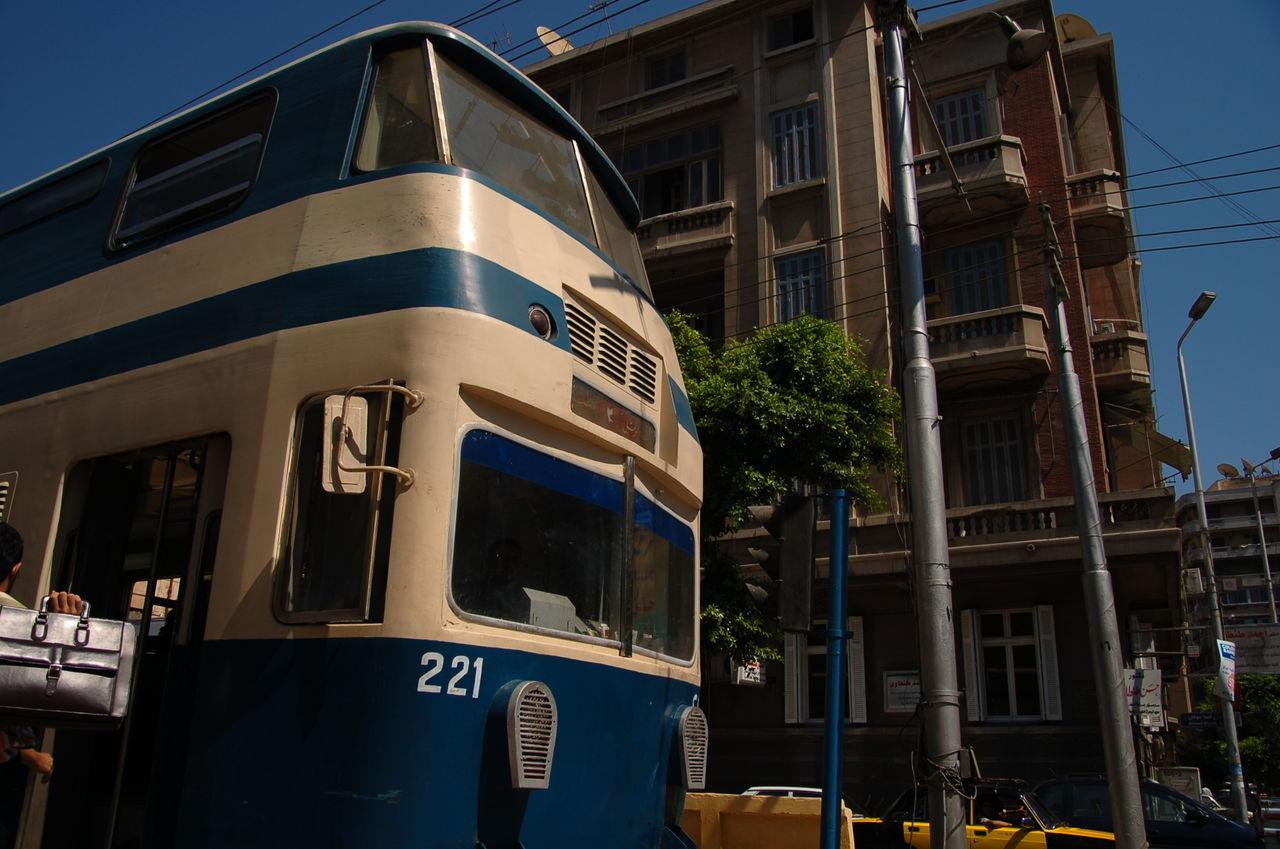 Alexandria Egypt Architecture City Day District Façade Modern No People Outdoors Tourism Tram Travel Destinations Urban Road