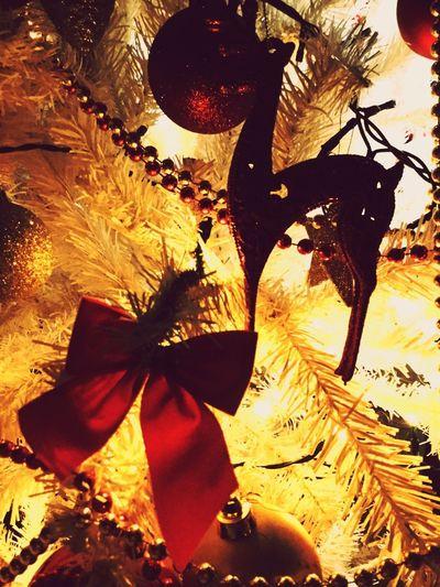 Christmas Decoration Reindeer Redbow
