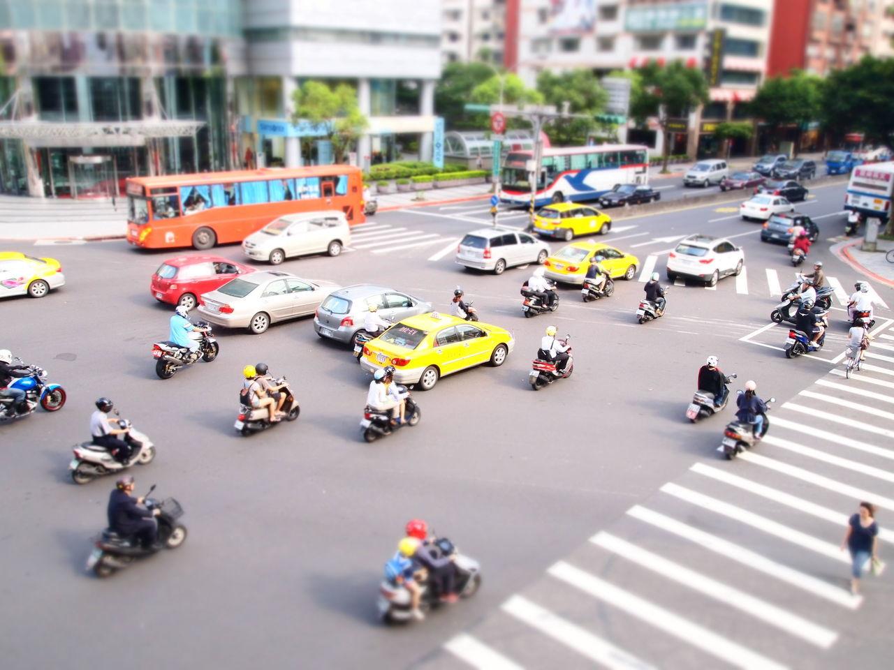 Diorama Motos Taipei Taipeimotorist Taipeitraffic Taiwan Tiltshift