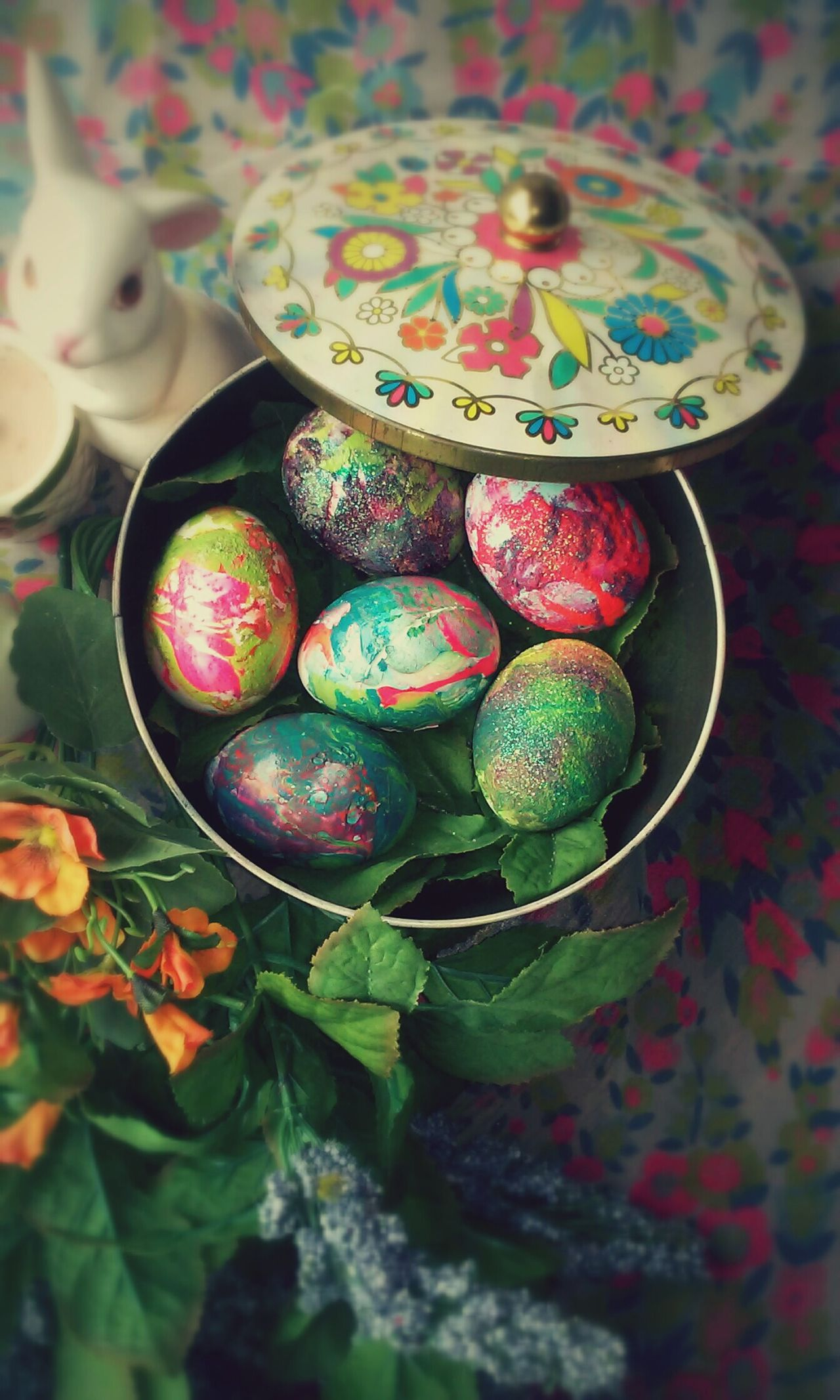 Easter Easter Eggs Dying Eggswith Nailpolish Art Flowers EyeEm Tiedye Colors DIY Easter Ready