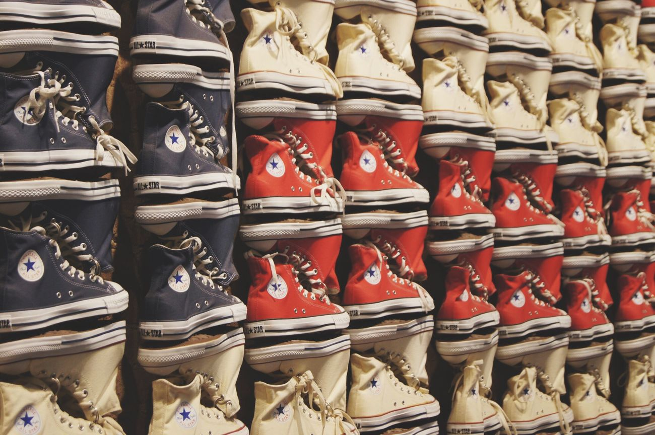 Beautifully Organized OpenEdit Open Edit EyeEm Best Shots Beautiful Organized Converse All Star Converse Store USA New York Travel Taking Pictures EyeEm Gallery EyeEm Photography Eye4photography  Phtography Flag Imitation Collections Eyeemphoto Takingphotos Art Cool Stars And Stripes Flag