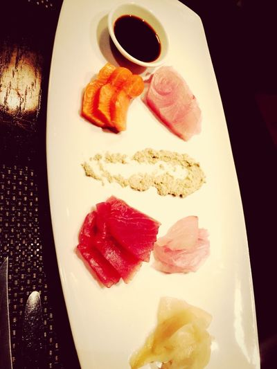 sashimi from raw bar