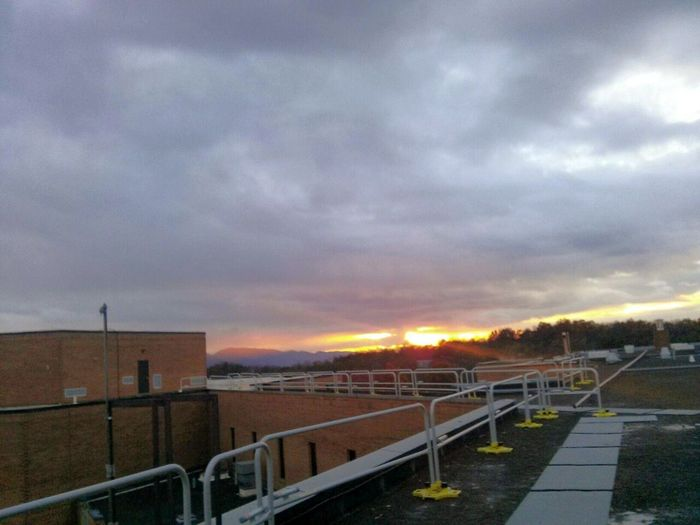 Sunsetporn ... Up On The Roof ..AT OUR AREA HIGH SCHOOL A Little About Where I Live. ... Novemberphotoaday ...♥♡♥