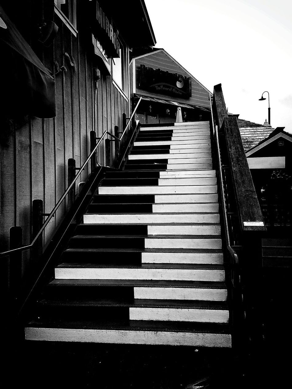 Steps And Staircases Steps Staircase Northcalifornia Coast Coastal First Eyeem Photo Built Structure Architecture No People Outdoors Day Piano Moments Piano Key Piano Piano Keys San Francisco SanFranciscoBay Bay Pier Pier 39 EyeEmNewHere EyeEmNewHere Welcome To Black The Secret Spaces Art Is Everywhere