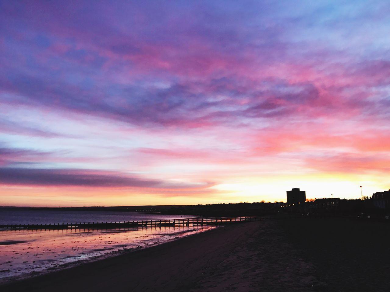 Sunset #sun #clouds #skylovers #sky #nature #beautifulinnature #naturalbeauty #photography #landscape EyeEm Best Shots Beachphotography Portobello Beach, Edinburgh Sunrise_Collection