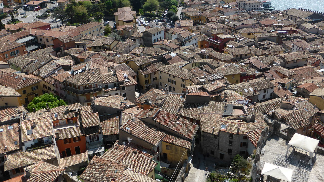 Roofs Roofs From Above Roofs Of Houses High Angle View Architecture Building Exterior Outdoors Urban Exploration Bella Italia Gardasee,Italien Lake Garda Garda Lake Italy Malcesine