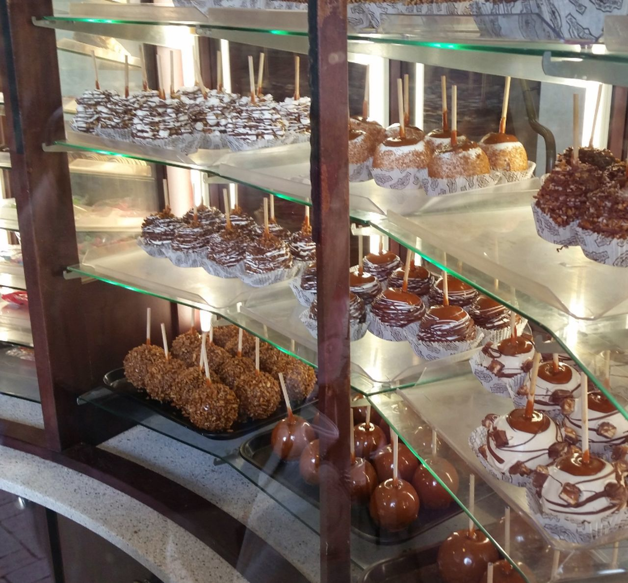 Beautifully Organized Sweet Food Indulgence Indoors  Dessert Display Cabinet Food Candy Apple Caramel Apples Popular Photos EyeEm Best Shots