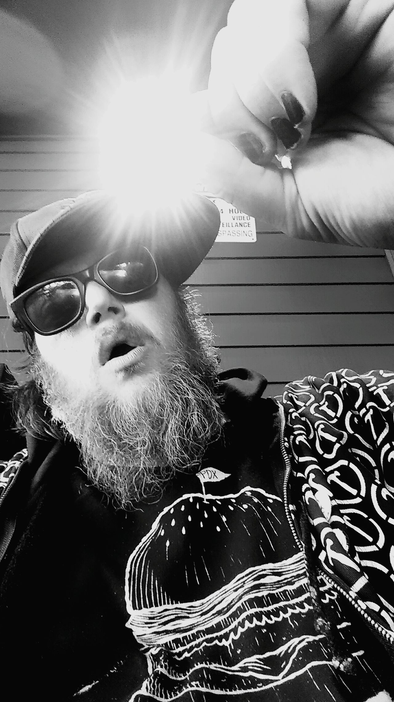Catch A Sunbeam Catching A Sun Ray Black And White Photography Black And White Portrait Sunbeam Sun Catchers Artist Portrait Benjamin Larsen Artist Portrait That's Me Enjoying Life Art Of Benjamin Larsen Black Shoes Black Hat And Dark Sunglasses Black And White