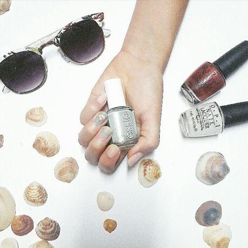 Nails and sea shells Nail Nails Nail Polish Nail Design Summer Shells Shell Beach Fashion Style First Eyeem Photo