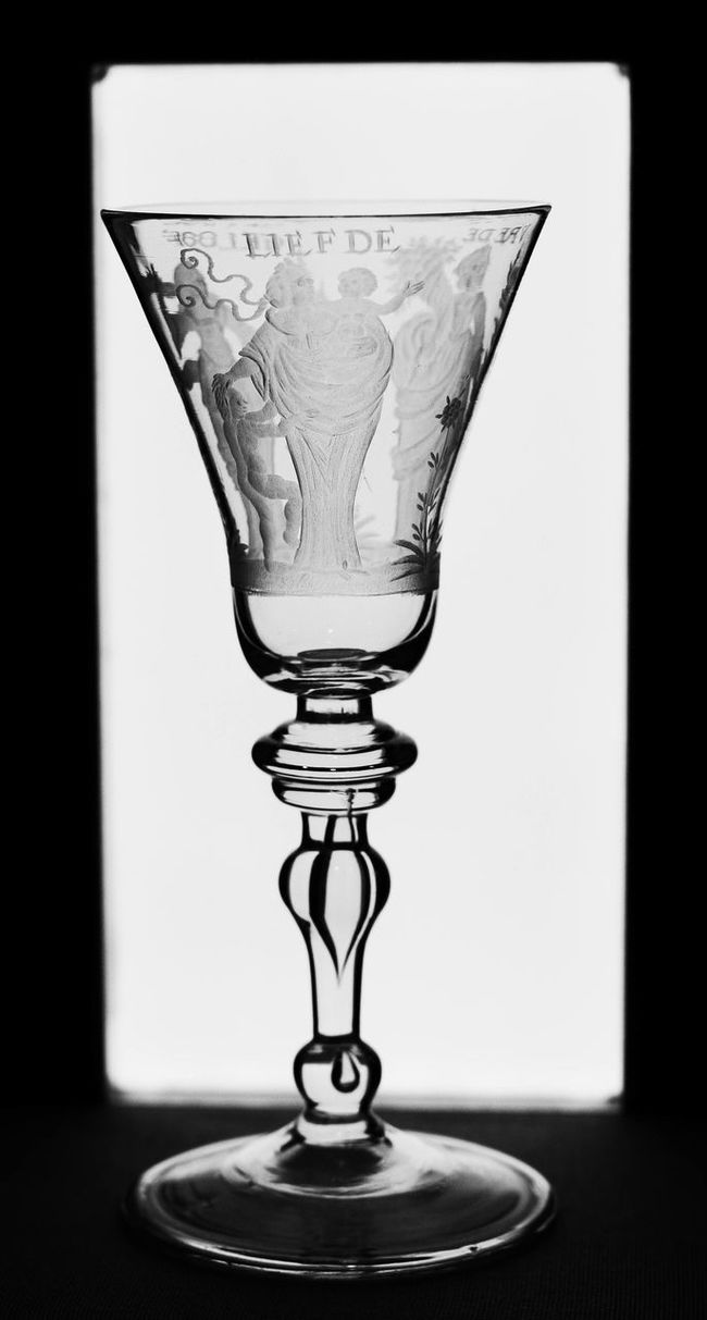 Black And White Photography Empty Etched Glass Fragility Glass - Material No People Purity Selective Focus Simplicity Still Life