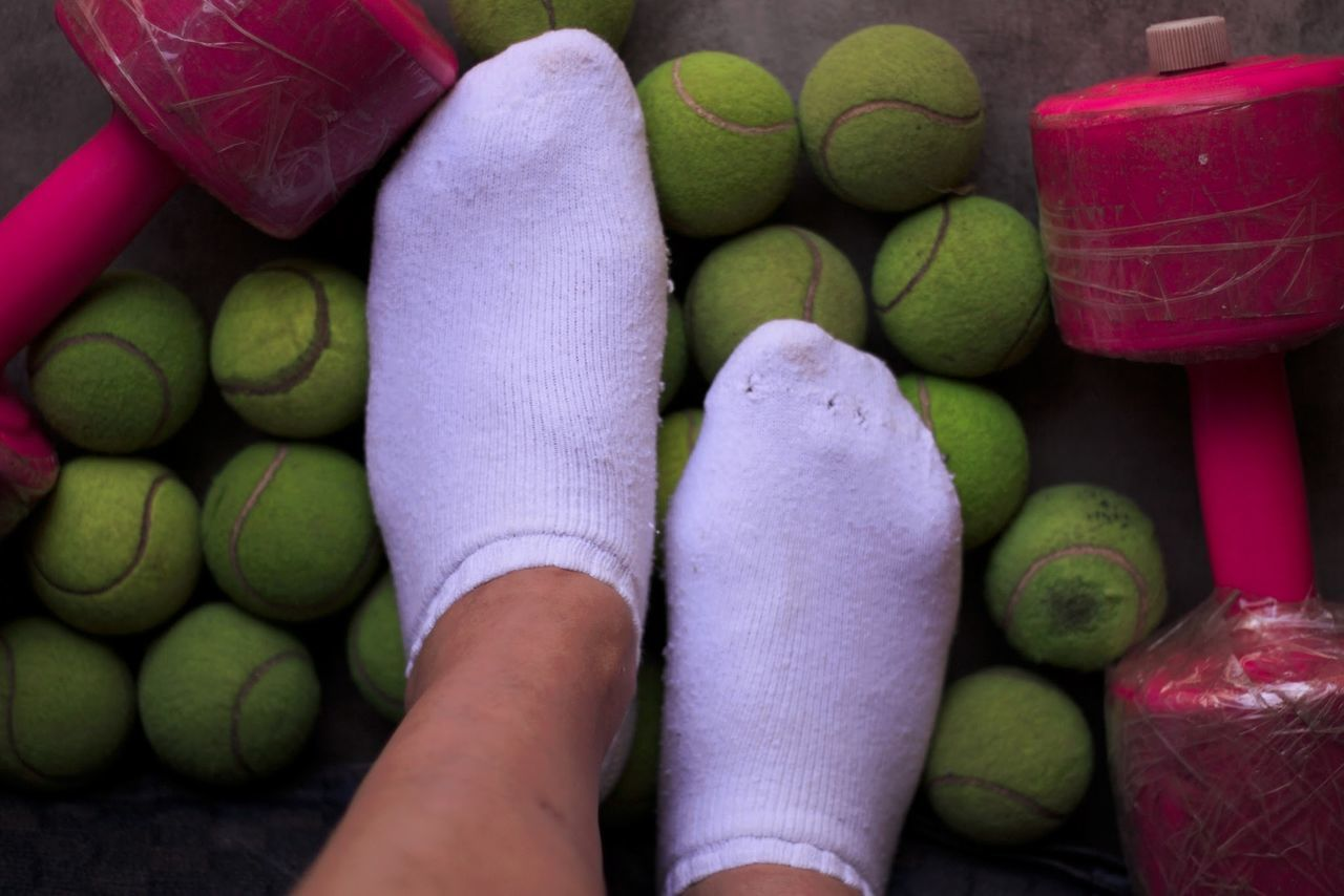 TK Maxx Socksie Sport Socks Close-up Socks Human Body Part Day Tennisballs Weights