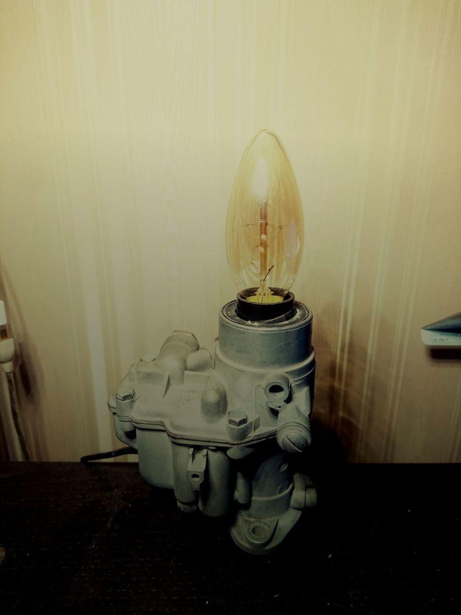 DIY Diy Project Lamp Carburetor Recycled:art Recycle