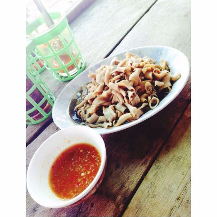ไส้เป็ดแก้ว sai-ped Duck Intestines Thaifood Thailand