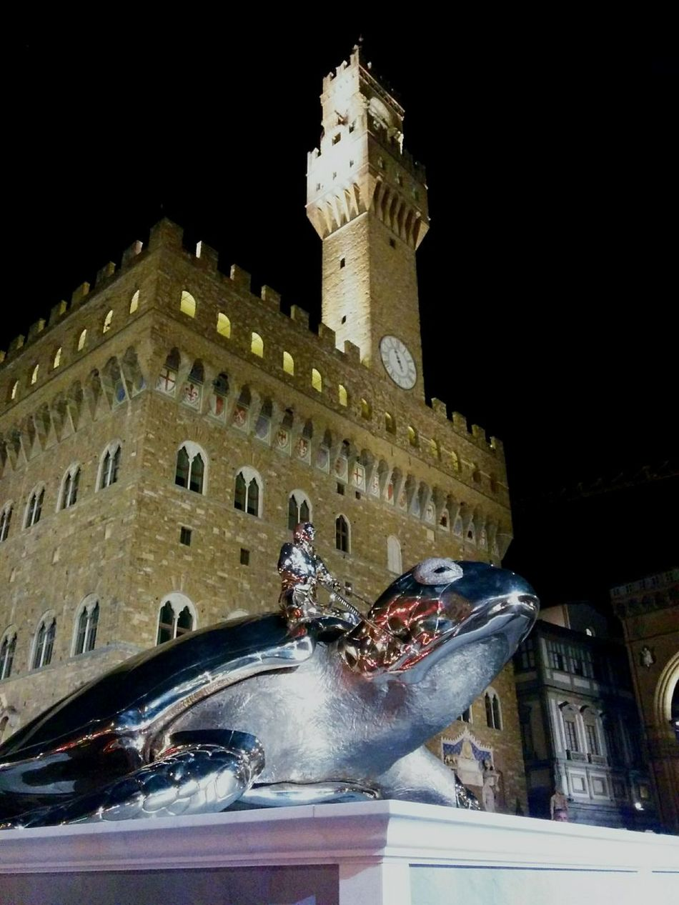Cities At Night Florence Firenze Italy Italia Piazza Signoria Jan Fabre Architecture Battle Of The Cities TakeoverContrast Overnight Success