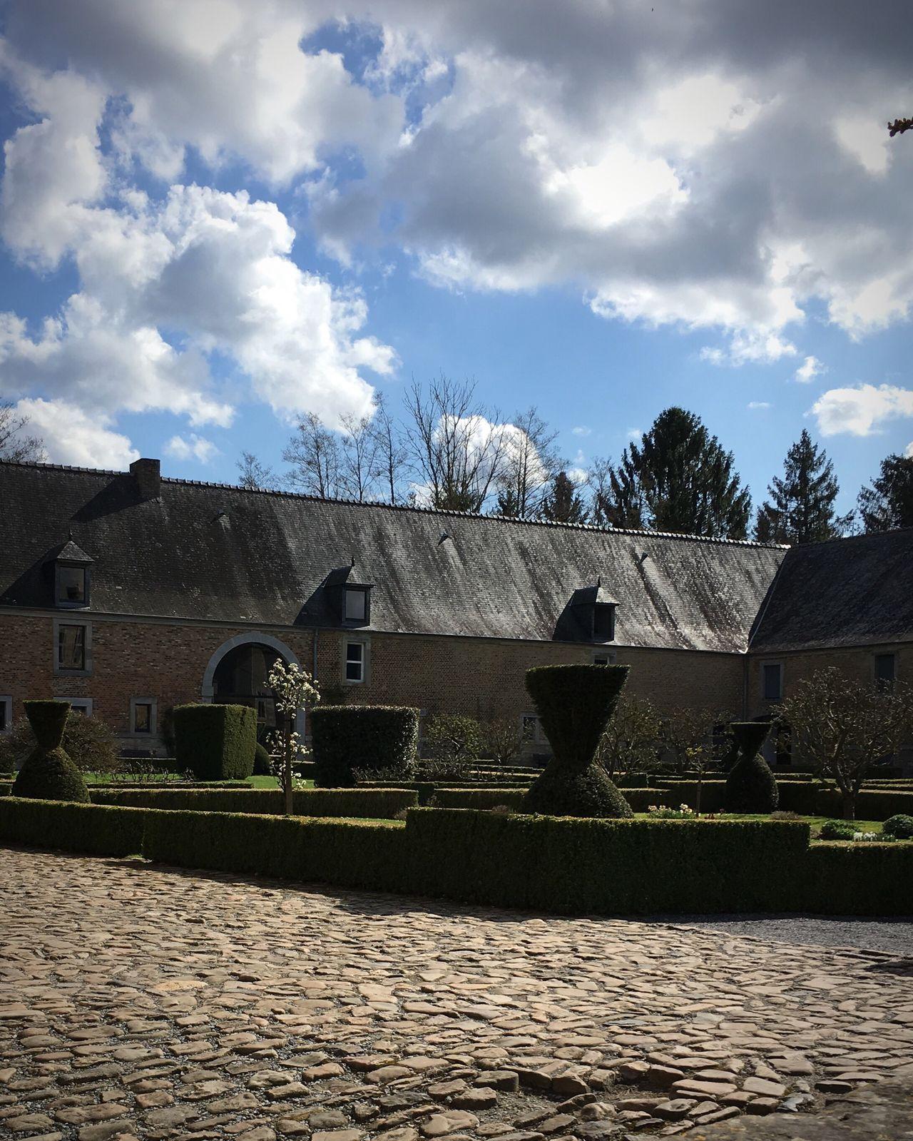 Cloud - Sky Lavaux St Anne Blue Popular Architecture Building Exterior Outdoors Garden Garden Photography Castle Belgium Frenchgarden