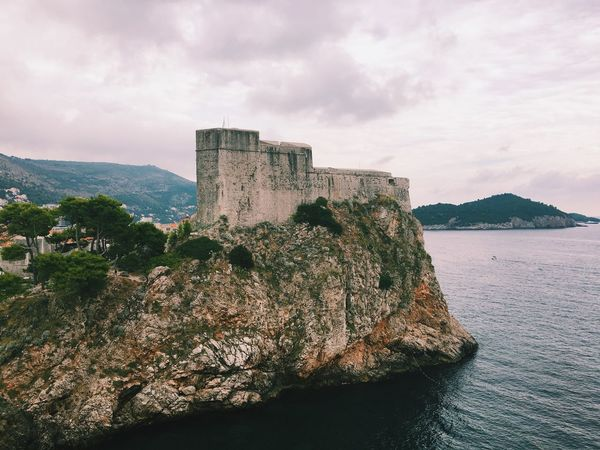 Dubrovnik Croatia Game Of Thrones Historical Building Scary Shit.  Fort Lovrijenac Adriatic Sea
