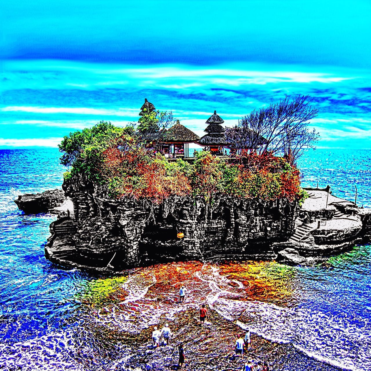 Enjoying the beautiful view and a good glass of wine makes you wish a day like this will never end 😉 Bali Bali, Indonesia Sacred Places Hello World Landscape_Collection Religion Peace Peace And Quiet Sea And Sky Lovely Temple Temples Seascape Summer Views Enjoying The View Indonesia_allshots Exploring Visiting EyeEm Nature Lover Summer Memories 🌄 Karma