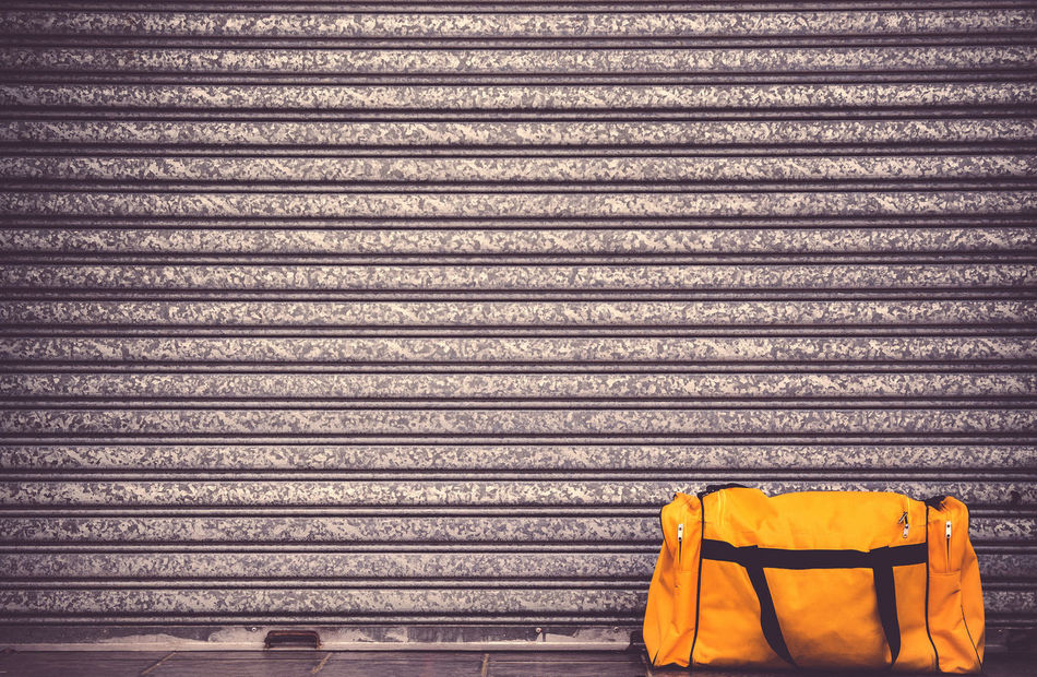 Minimalism Bag Corrugated Iron Day Door Fitness Fitness Training Garage Garage Door Gate Gym Healthy Healthy Lifestyle Luggage Minimal Minimalism Minimalist Minimalist Photography  Minimalistic Minimalobsession No People Outdoors Sport Sports Travel Yellow