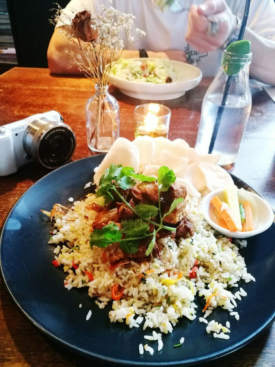 food and drink, plate, food, table, serving size, ready-to-eat, freshness, healthy eating, rice - food staple, indoors, no people, close-up, meal, fried rice, day