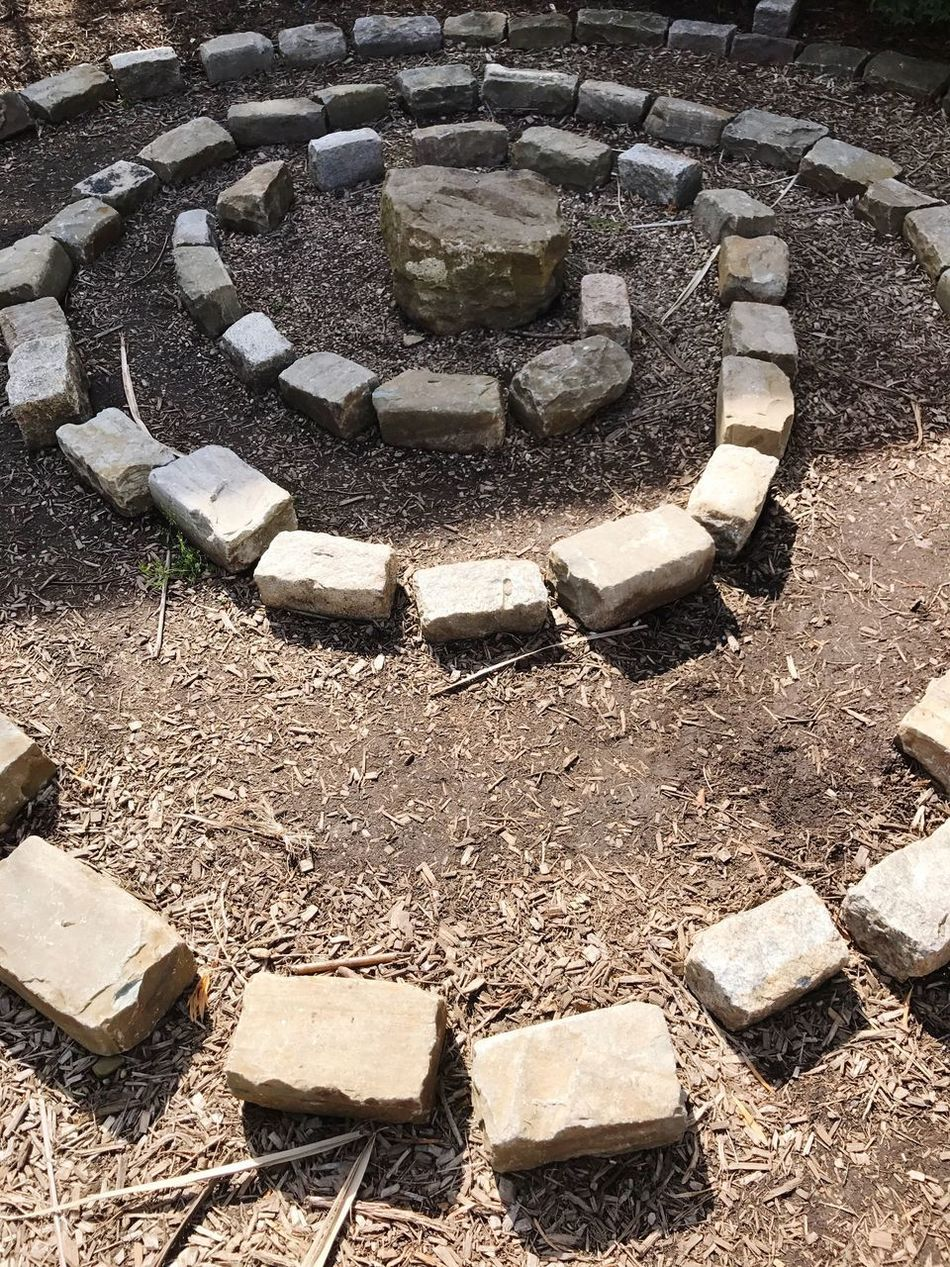 Stone Material High Angle View No People Day Outdoors Nature Close-up Labyrinth