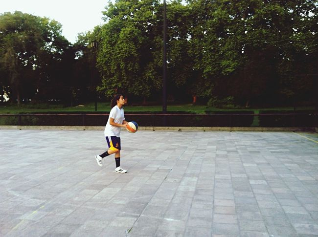 """Make Magic Happen because there are just a small amount of few other things that I love as much as playing basketball. I'm not very good at it, I'm not a legend. But, truth is, my team makes me feel like one. Like I'm special, like I belong somewhere. Let's say, I'm new at this. I'm playing basketball competitively for 7 months now. And, I've never been so happy and excited for something in my life since I was born, as I am for this. I mean, I got new moms - my coach, my others friends mothers - new sisters and brothers - my teammates - and a new vision. Thanks to them. And it's thanks to them that I feel special, that I feel I finally belong somewhere. When I have practice, they're always there for me. Pushing me to the limits, in a positive way. And if something's wrong, for SURE I know I'm going to hear a """"Hey, we're a team, but not properly just inside the field, just to play this sport. We're a team outside the field too, and you can count on us."""" We have our fights sometimes too, it's normal, but in the end, we're always a team. Not just to play this awesome complex sport, but to help, be there and have fun, with each other. And that's why I love to play basketball. That's why I love this sport so much. It made me push my physical limits, and emotional barriers. It made me grow as a person, thanks to the team spirit I have on my team, and I couldn't be more thankful for everything that happened since I started playing basketball Basketball"""