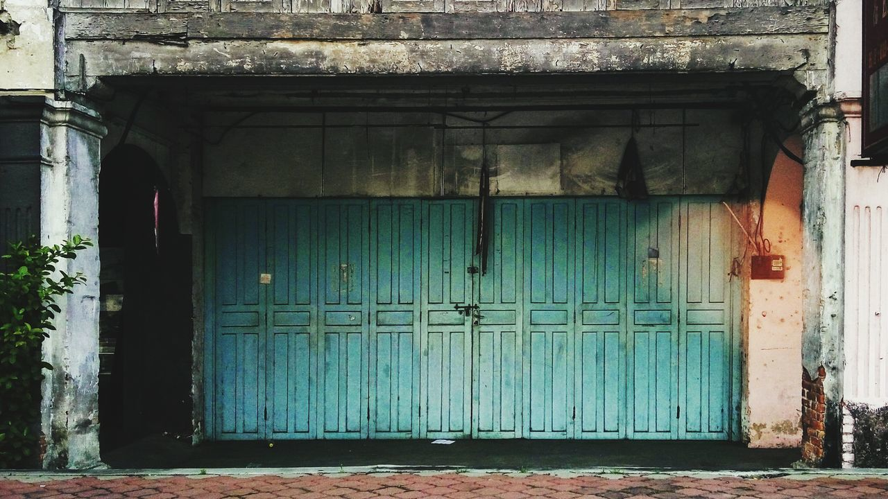 door, closed, architecture, entrance, built structure, doorway, building exterior, protection, outdoors, no people, day, entry