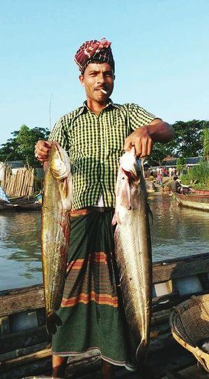 Man Culture Fish Boat Cigarette