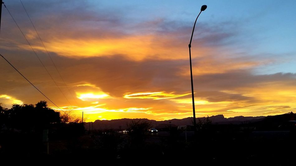 Amazing Colors Blue Sky Car Sights Cloud Cloud - Sky Commute Day Into Night Desert Sky Desert Sunset Fire In The Sky Looking Ahead And Behind Natural Beauty Natural Light Orange Sky Purple Sky Rearview Rearviewmirror Red Sky At Sunset Sky Sunset Landscapes With WhiteWall