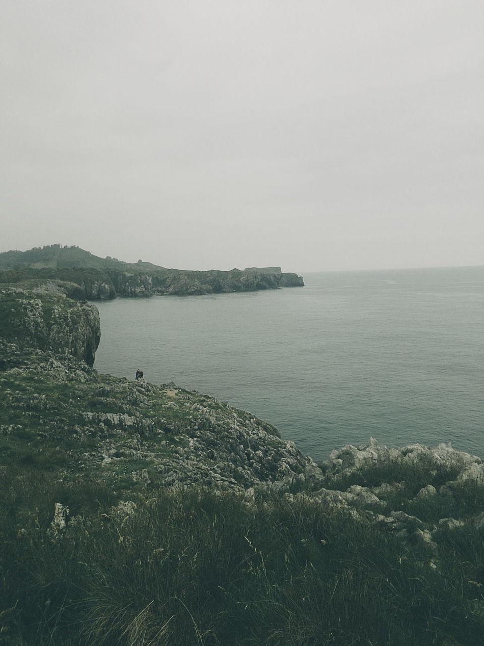 Asturian and Cantabrian Sea coast Beauty In Nature Calm Coastline Day Grass Growth Horizon Over Water Idyllic Landscape Mountain Nature No People Non Urban Scene Non-urban Scene Outdoors Plant Remote Scenics Sea Sky Tranquil Scene Tranquility Water