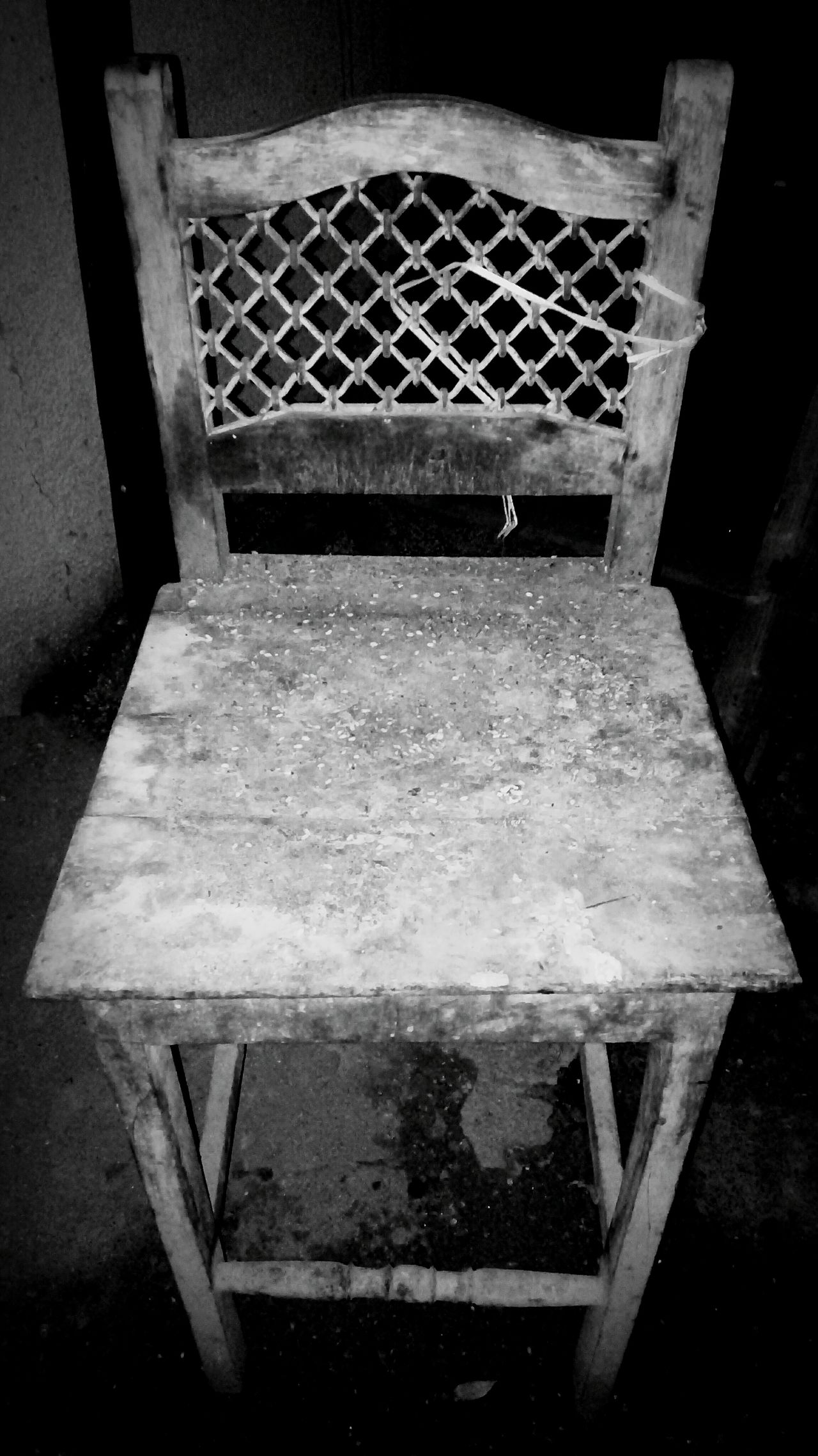 Forget Me Not Wooden Chair Stillness In Time Be Seated Waiting... Abandoned