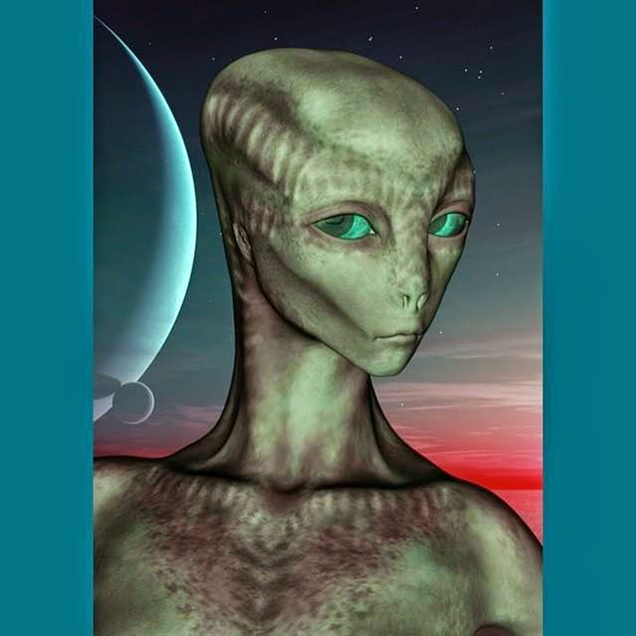 Portrait of Alien Girl Art 3drender 3drenders