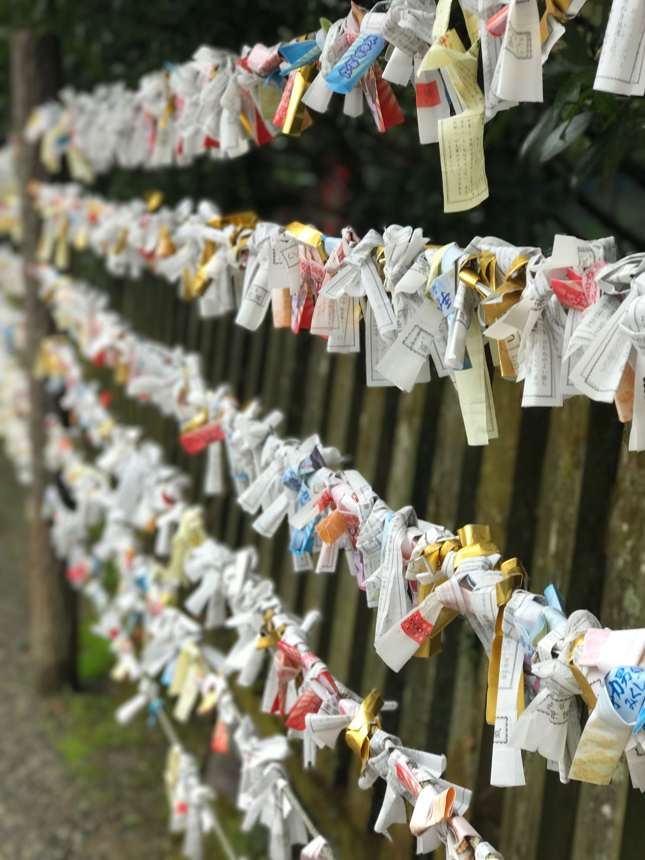Colorful paper fortunes at Amano Iwato Shrine in Miyazaki prefecture ✨ Hanging Large Group Of Objects Abundance Love Protection Railing Hope Outdoors Love Lock Religion Close-up Travel Destinations Multi Colored Variation Paper Unity No People Paper Fortune Fortune Colorful Millennial Pink