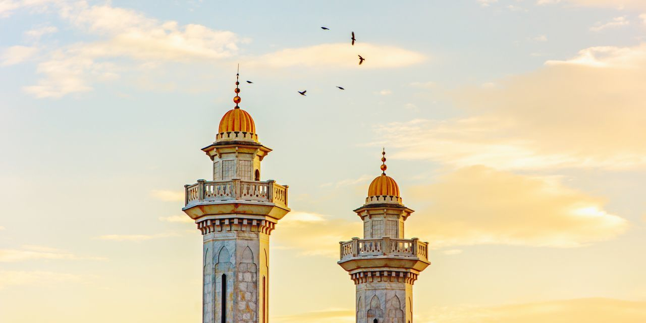 Golden Gold Golden Sunset Sunset Dome Architecture Built Structure Building Exterior Sky City No People Bird Religion Cloud - Sky Outdoors Place Of Worship Nature Animal Themes Day (null)Arabic Architecture Towers