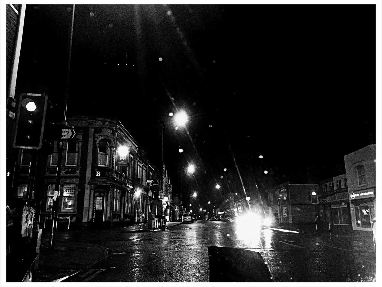 Black & White Black And White Noir Night Lights City Night Nightphotography
