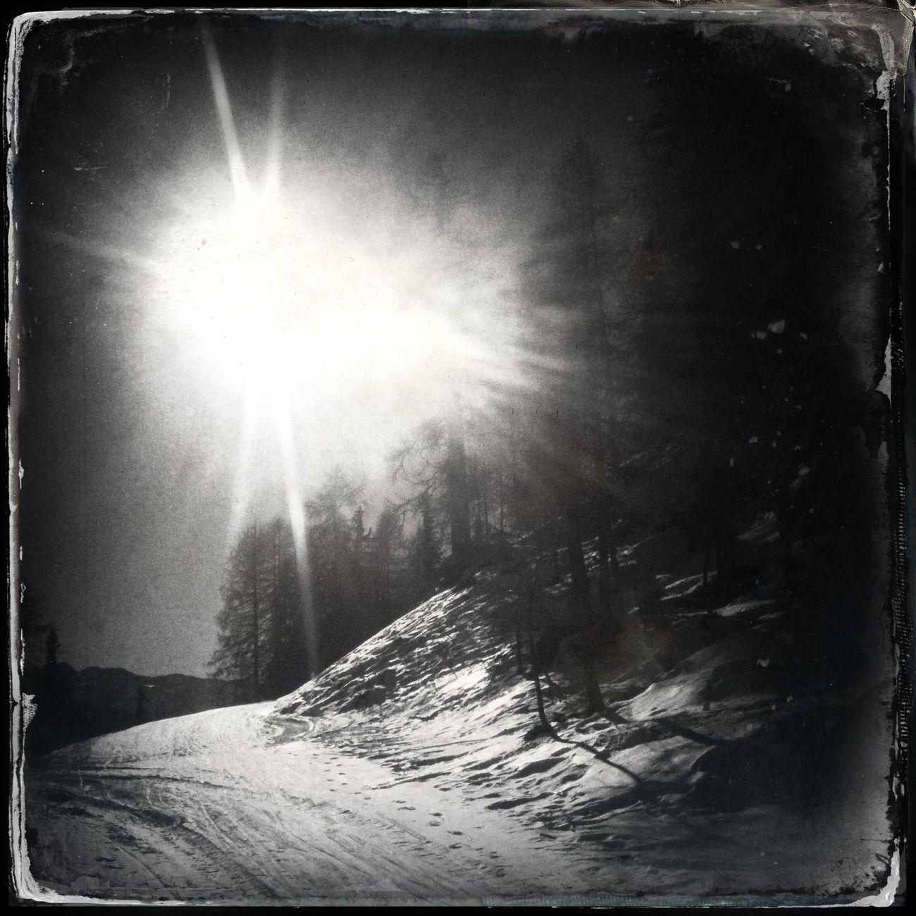 It was a beautiful sunny morning The_guido Blackandwhite Hipstamatic Sun