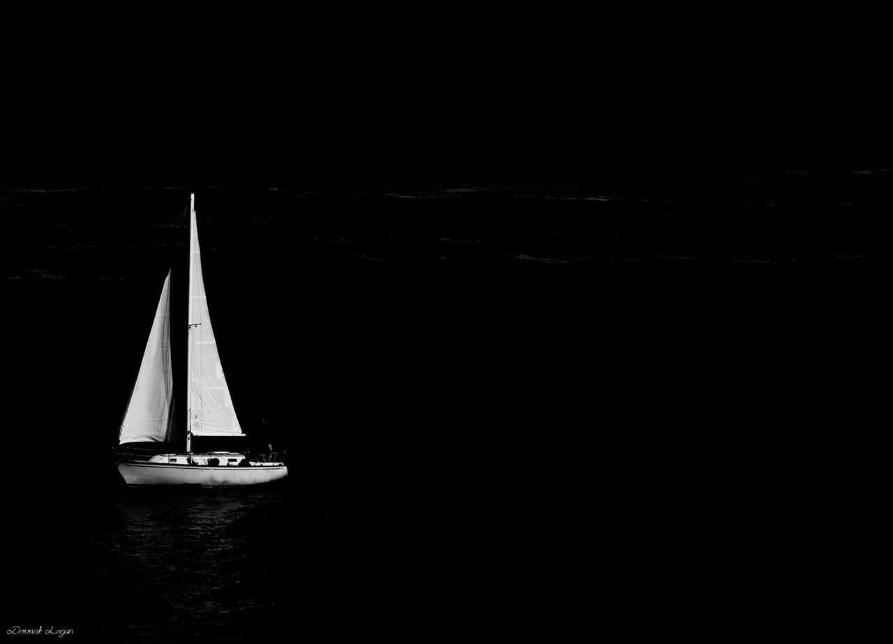 Open water Black And White Blackandwhite Photography Day Mast Nature Nautical Vessel Outdoors Sailboat Sailing Sailing Ship Sea Water Yacht Yachting
