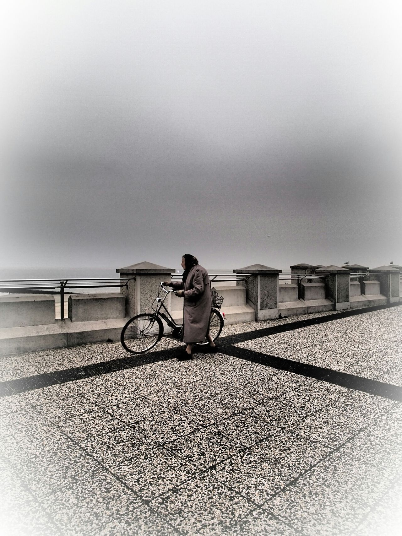 woman at borkum, original shot with filter