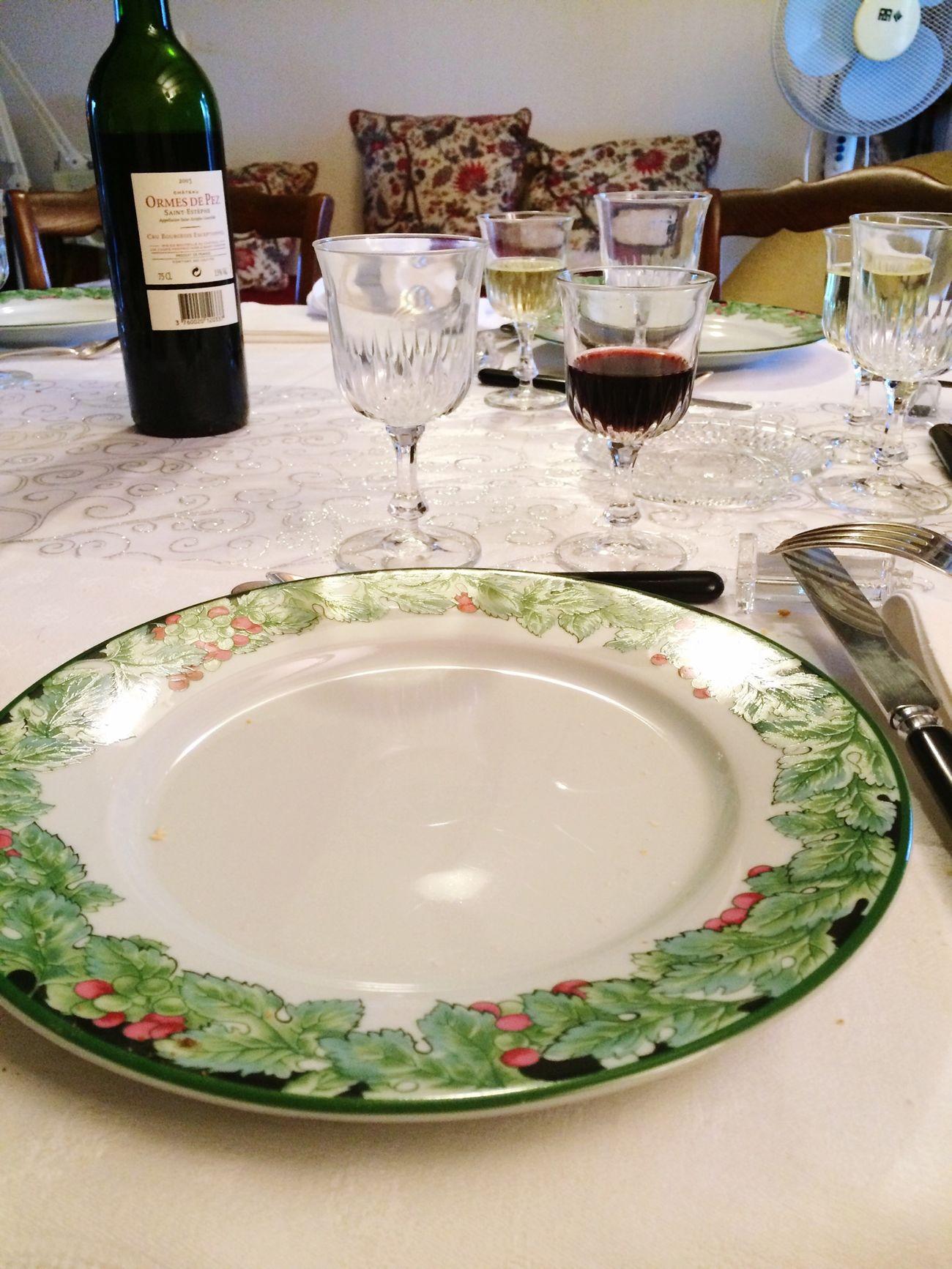 Merry Christmas! Enjoying A Meal