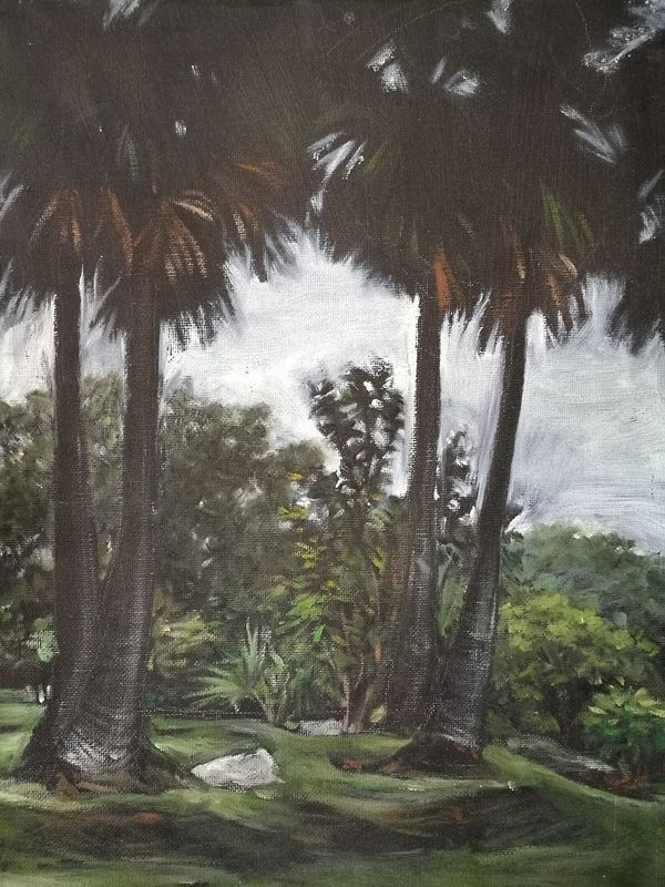 My painting Landscape Paintings Outdoors No People Nature Cold Temperature Tree Day Shadows & Lights Thai Art Thai Painting Artist Art Oil Painting Oiloncanvas Grass Beauty In Nature First Eyeem Photo Garden