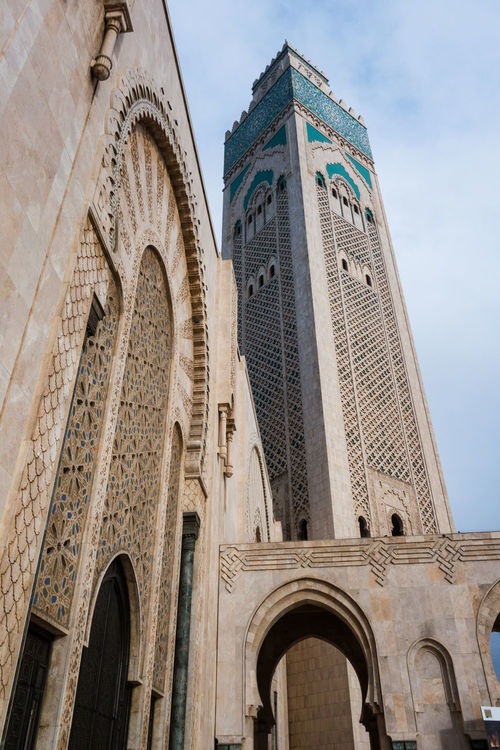 BIG Casablanca Casablanca, Morocco Famous Hassan II Mosque Morocco Place Place Of Worship Travel Arch Architecture Building Exterior Built Structure City Day Destination Landmark Low Angle View No People Outdoors Place Of Worship Religion Sky Spirituality Travel Destinations