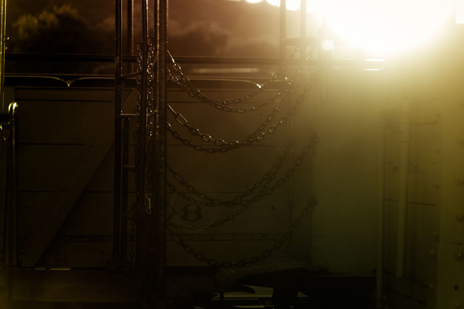 Art Is Everywhere Chain Close-up Darkness And Light No People Outdoors Steampunk Sun Sunset Sunset Silhouettes Sunset_collection The Secret Spaces Train Tranquil Scene Tranquility Urban Urbanphotography Art Is Everywhere Break The Mold